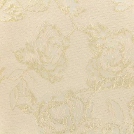 Lurex Jacquard fabric - Light pink Olympe x 10cm