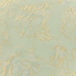 Tissu Jacquard lurex Olympe - Bleu ciel x 10cm