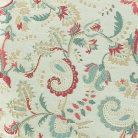 Lurex Jacquard fabric - Light blue/pink Esmé x 10cm