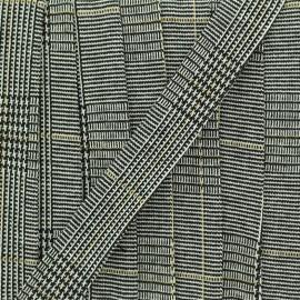 20 mm Jersey Wool Aspect Bias Binding - Black Polly  x 1m