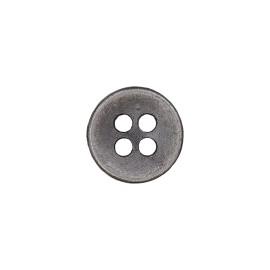 Metal Look Polyester Button - Tin Petitus