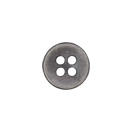 Metal Look Polyester Button - Tin Petitus