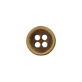 Metal Look Polyester Button - Bronze Petitus