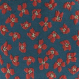 Tissu Jacquard lurex Maddie - bleu x 10cm