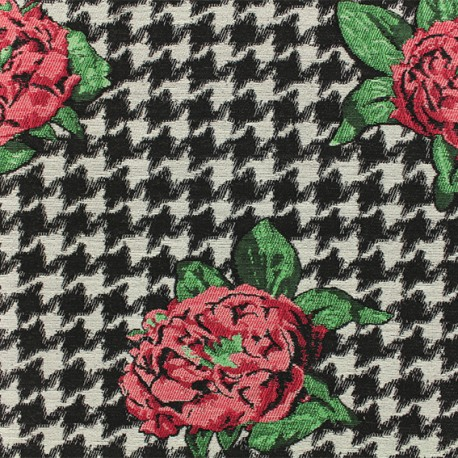 Jacquard fabric - Red Salma x 10cm
