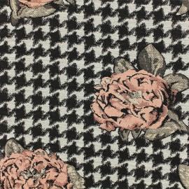 Tissu Jacquard Salma - Rose x 10cm