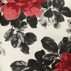 Tissu Jacquard Elisabeth - noir  x 10cm