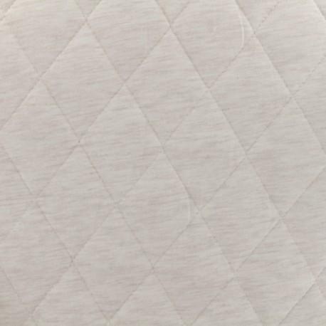 Tissu jersey matelassé Chiné - écru x 10cm