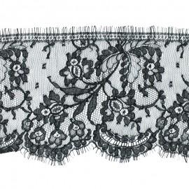 Lace of Calais® Ribbon Capucine - Black x 50cm