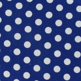 Dots Fabric - Navy x 10cm