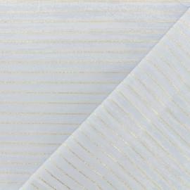 Tissu polycoton lurex - bleu pervenche x 10cm