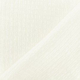Jacquard fabric - Pearly White Galatée x 10cm
