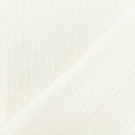 Tissu Jacquard Lurex Galatée - Blanc  x 10cm