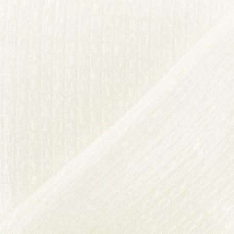 Jacquard fabric - Pearly White Galatée x 10cm