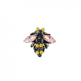 Bohin jewel sew-on with rhinestones - Pink Bee