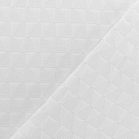 Tissu Jacquard Osaka - Blanc x 10cm