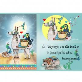 Coupon Taffetas Laëtibricole - Lama et toucan