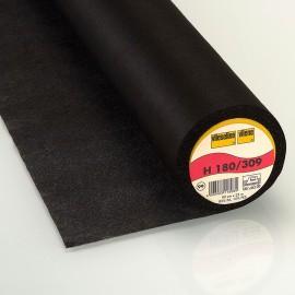 Entoilage thermocollant H180 Vlieseline noir x 10cm