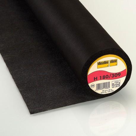 H180 Vlieseline hot-melt canvas covering – Black x 10cm