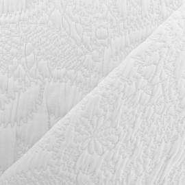 Tissu Jacquard matelassé Venise - Blanc x 10cm