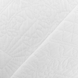 Quiltes Jacquard fabric - White Bombay x 10cm