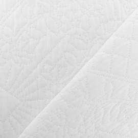 Tissu Jacquard matelassé Bombay - Blanc x 10cm