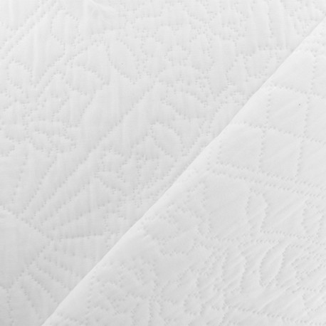 Quiltes Jacquard fabric - White Bombay x 10cm