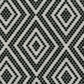 Velvet Jacquard fabric - Black Folklore x 10 cm
