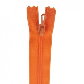 Closed bottom zipper - orangey red