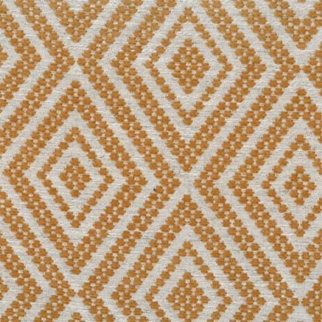 Velvet Jacquard fabric - Saffran yellow x 10 cm