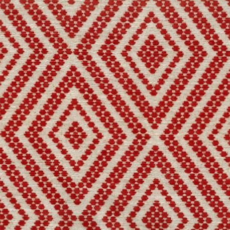 Velvet Jacquard fabric - orange x 10 cm