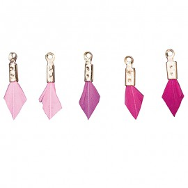 Candy Feather Pendant - Set of 5
