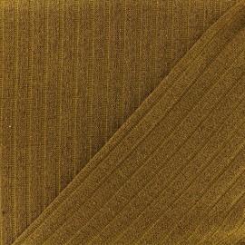 Tissu jersey maille côtelé Lurex - Ocre x 10cm