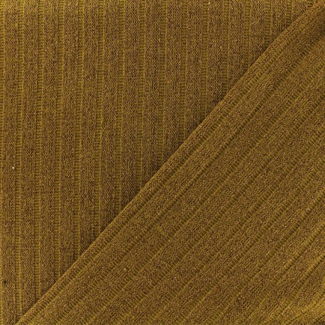 Jersey lurex ribbed knitted fabric - Rosewood x 10cm