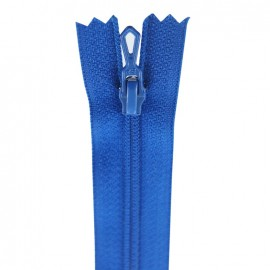 Closed bottom zipper - blue flag