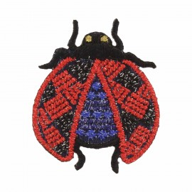 Field's Ladybug Iron-On Patch - Red