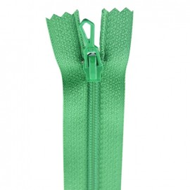 Closed bottom zipper - snooker green