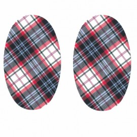 Scottish Tartan Iron-On Patches for Elbow/Knee - Red Gordon