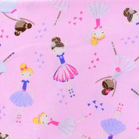 Cotton fabric - Pink Ballerina x 10cm