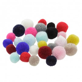 Assorted pom poms mix (x 28) - multicolour