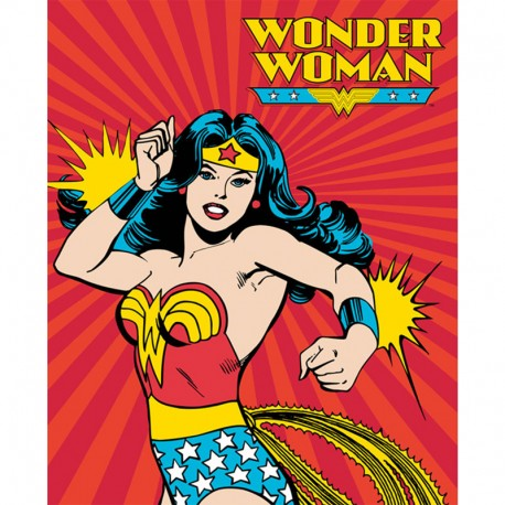 Cotton fabric Panel - Wonder woman 90cm x 110cm