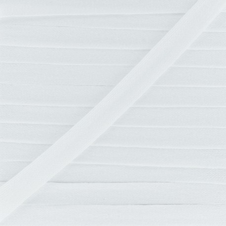 Flat cotton string 3 mm - white