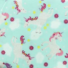 Tissu coton Timeless Treasures Licorne ailée - Blush/Pailette x 10cm