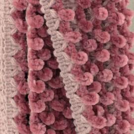 Galon Chenille 15 mm - Vieux Rose x 1m