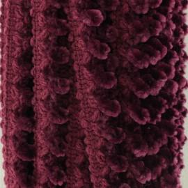 15 mm Caterpillar Braid Trimming - Burgundy x 1m