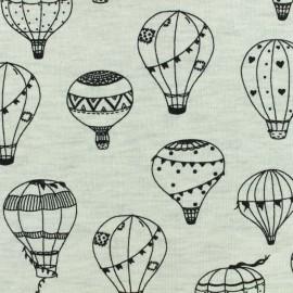 Poppy Light Sweatshirt fabric - Raw Balloons x 10 cm