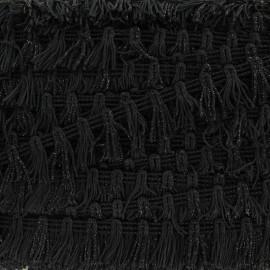 Galon Petits Pompons à Franges Lurex - Noir x 1m