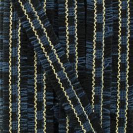 Double Fringe Braid Trimming - Blue Gabrielle x 1m