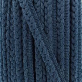 Woolen Braid Trimming - Blue Vivo x 1m