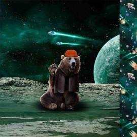 Tissu Jersey Poppy Bear in space - Panneau x 67cm